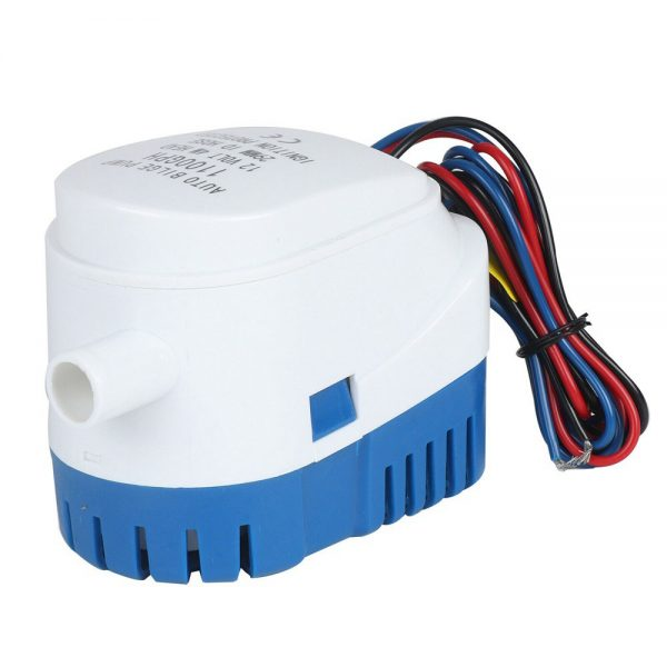 12v 1100gph Marine Automatic Submersible Bilge Pump Auto Float Switch Internal (4)