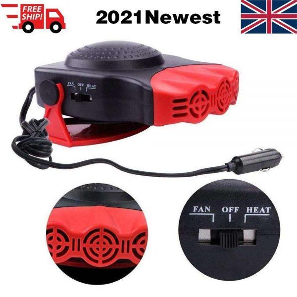 150w 12v Car Heater Fan Defogger Defroster Demister Heating Warmer Windscreen (1)