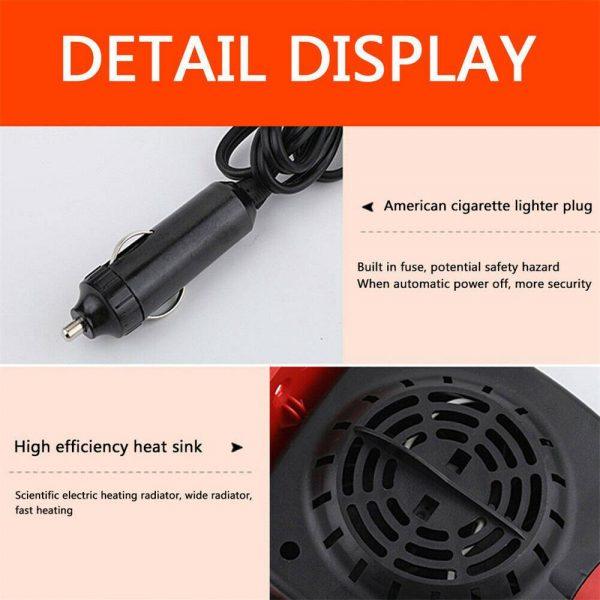 150w 12v Car Heater Fan Defogger Defroster Demister Heating Warmer Windscreen (11)