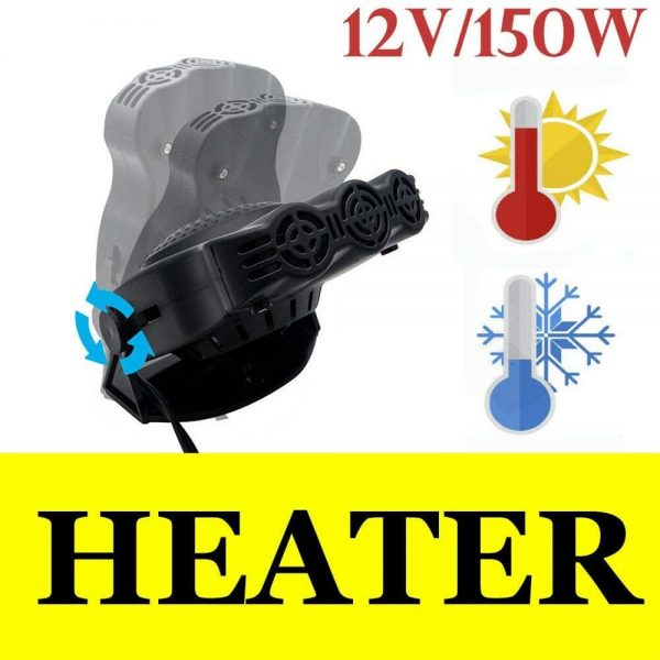 150w 12v Car Heater Fan Defogger Defroster Demister Heating Warmer Windscreen (4)