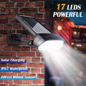 17 Led Solar Power Lamps Garden Wall Motion Sensor Spot Yard Light Outdoor (1)