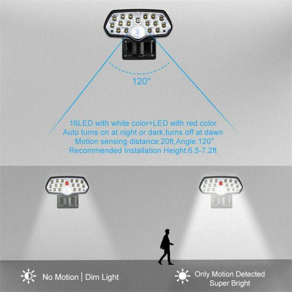 17 Led Solar Power Lamps Garden Wall Motion Sensor Spot Yard Light Outdoor (13)