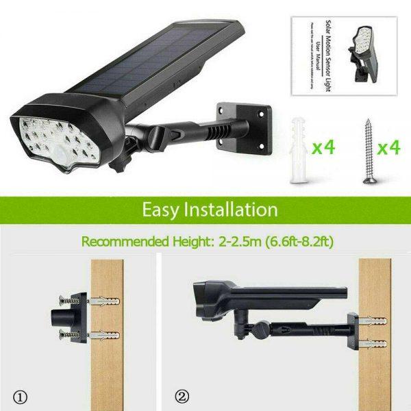 17 Led Solar Power Lamps Garden Wall Motion Sensor Spot Yard Light Outdoor (15)