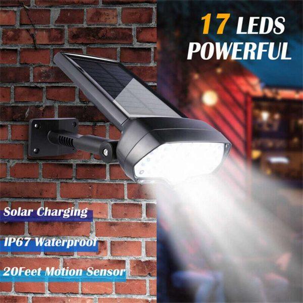 17 Led Solar Power Lamps Garden Wall Motion Sensor Spot Yard Light Outdoor (2)
