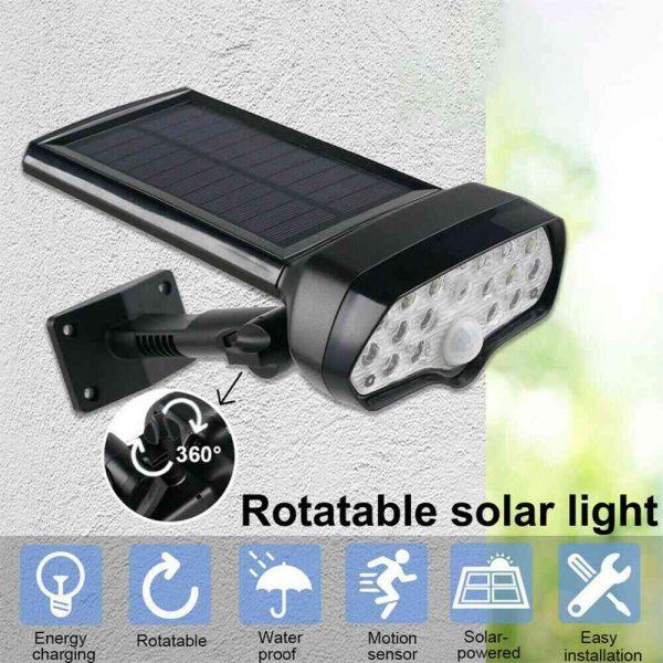 17 Led Solar Power Lamps Garden Wall Motion Sensor Spot Yard Light Outdoor (3)