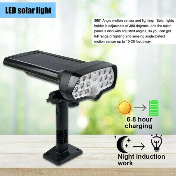 17 Led Solar Power Lamps Garden Wall Motion Sensor Spot Yard Light Outdoor (7)