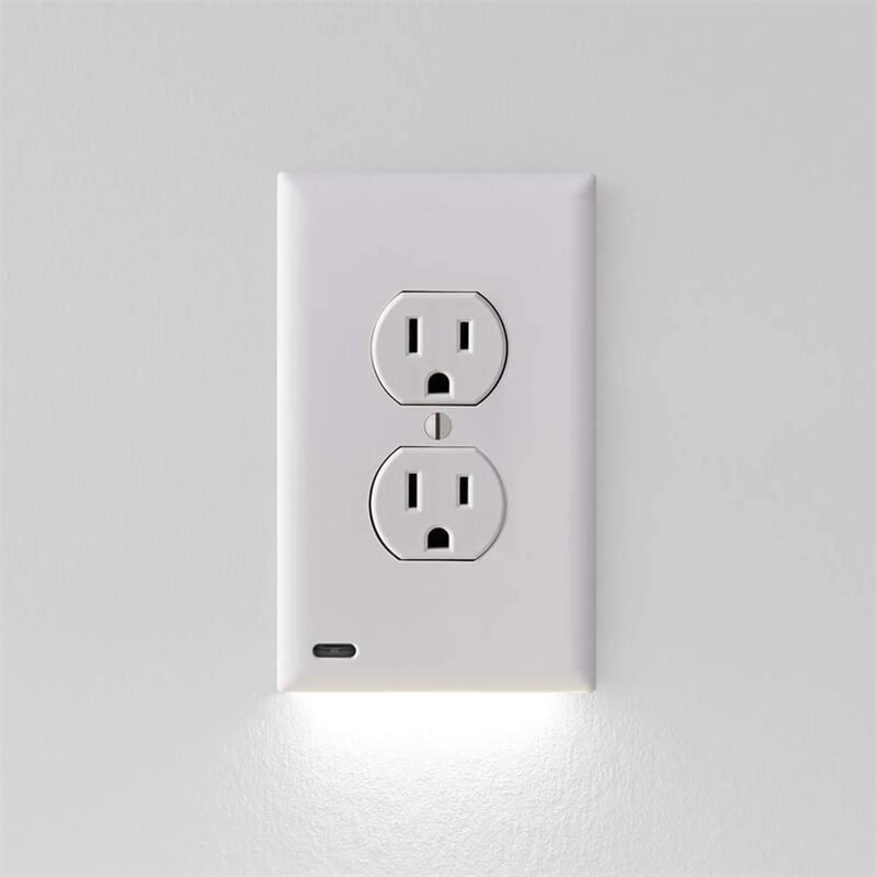 2 Pack Night Light Electrical Outlet Wall Plate With Led Night Lights Automatic Onoff Sensor (5)