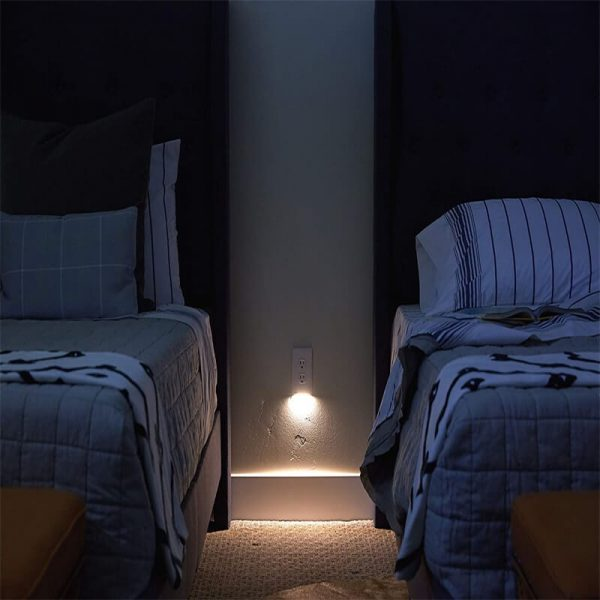2 Pack Night Light Electrical Outlet Wall Plate With Led Night Lights Automatic Onoff Sensor (8)