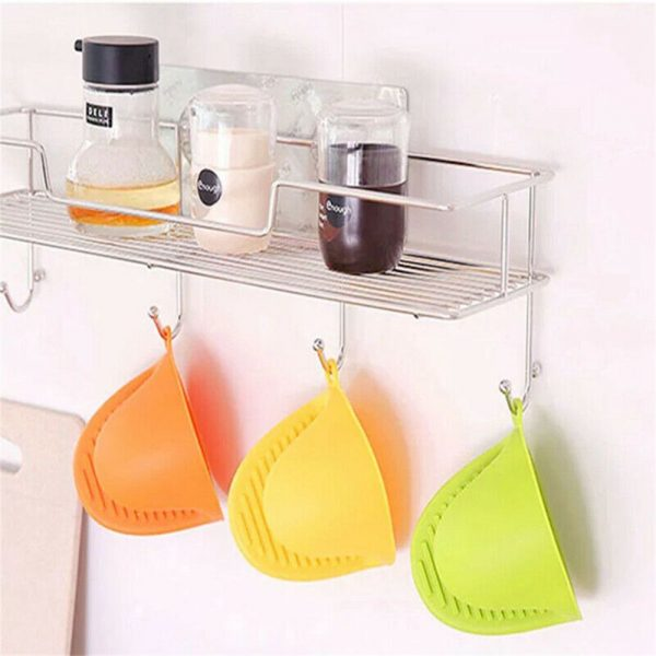 2 Pcs Silicone Extra Thick Mini Oven Mitts Heat Resistant Pot Holder Gloves (10)