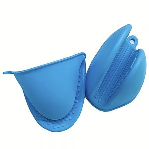 2 Pcs Silicone Extra Thick Mini Oven Mitts Heat Resistant Pot Holder Gloves (3)
