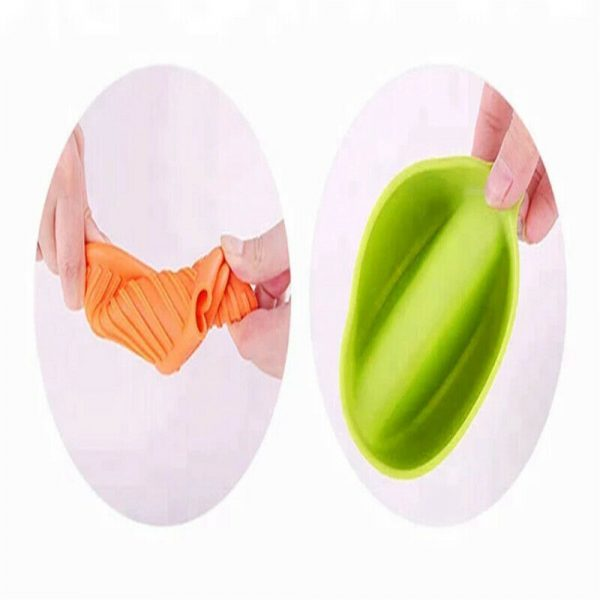 2 Pcs Silicone Extra Thick Mini Oven Mitts Heat Resistant Pot Holder Gloves (6)