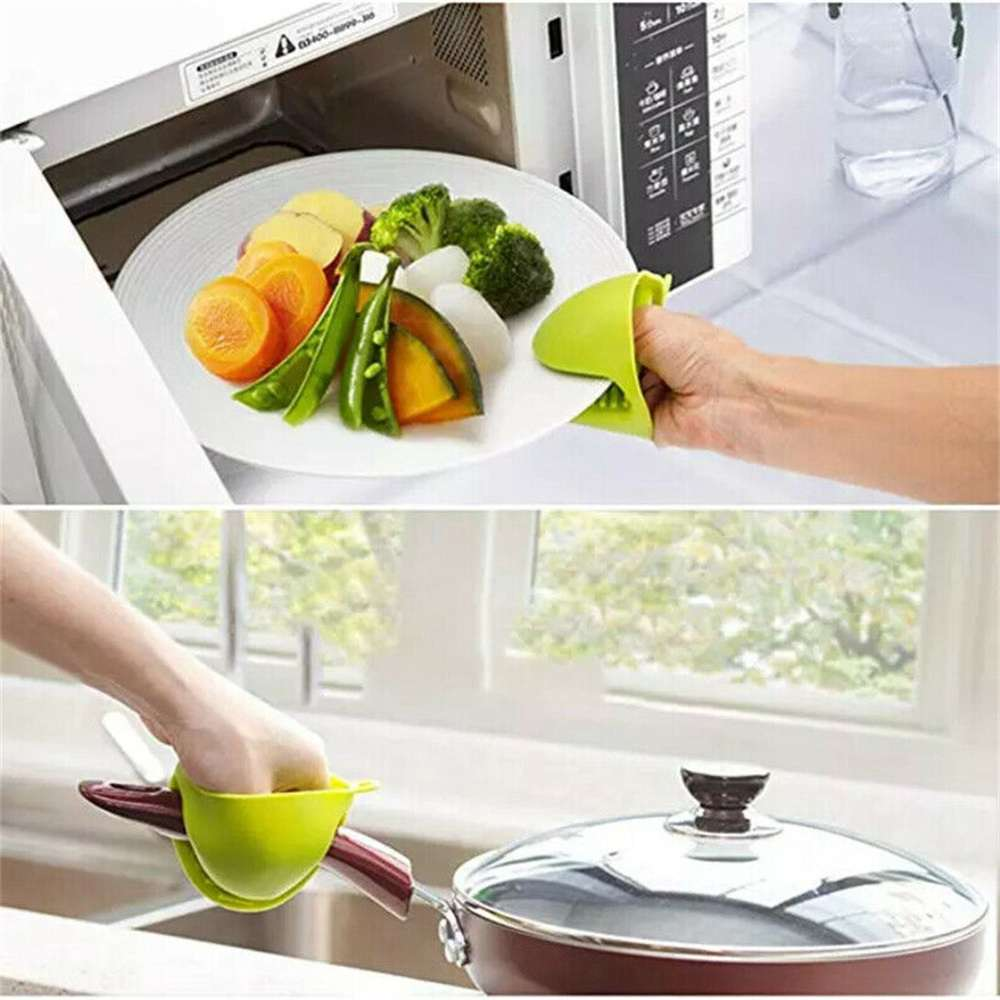 2 Pcs Silicone Extra Thick Mini Oven Mitts Heat Resistant Pot Holder Gloves (7)
