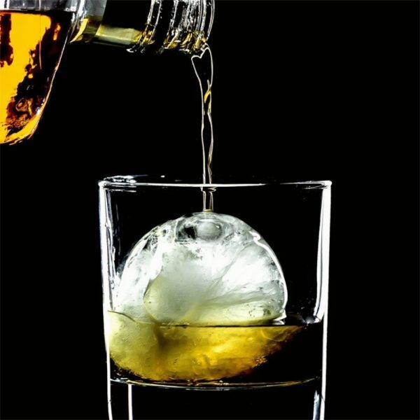 2.2 Bar Silicone Ice Cube 4ball Maker Mold Sphere Large Tray Whiskey Diy Mould (7)