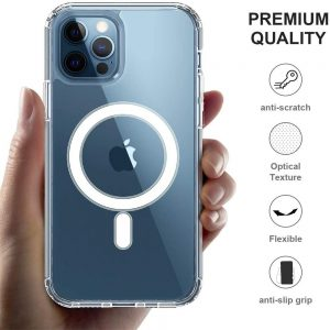 2021 New Clear Magnetic Hard Case For Apple Iphone 12 Propro Max Mag Safe Cover (1)