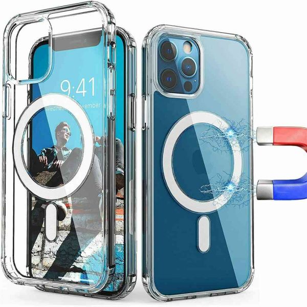 2021 New Clear Magnetic Hard Case For Apple Iphone 12 Propro Max Mag Safe Cover (18)