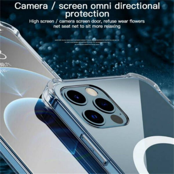 2021 New Clear Magnetic Hard Case For Apple Iphone 12 Propro Max Mag Safe Cover (7)