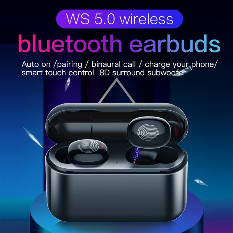 2021fashionable Stereo Earphone Headphones Wireless Earbud 8d Stereo With Charging Box Long Battery Life (4)