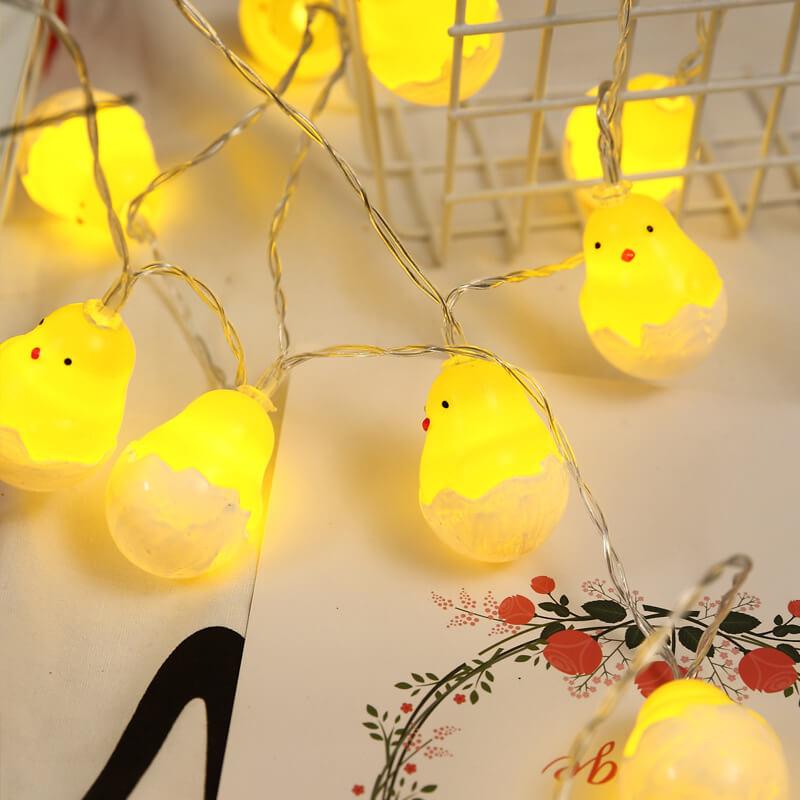 20leds Easter Eggshell Chick Light String Battery Box 3 Meters Colorful Light Led Lamp Night Light (1)