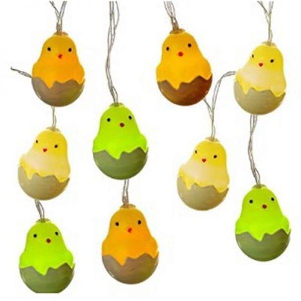 20leds Easter Eggshell Chick Light String Battery Box 3 Meters Colorful Light Led Lamp Night Light (2)