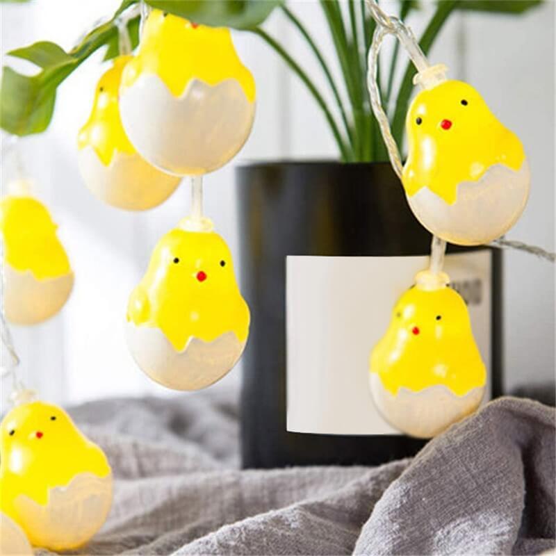 20leds Easter Eggshell Chick Light String Battery Box 3 Meters Colorful Light Led Lamp Night Light (3)