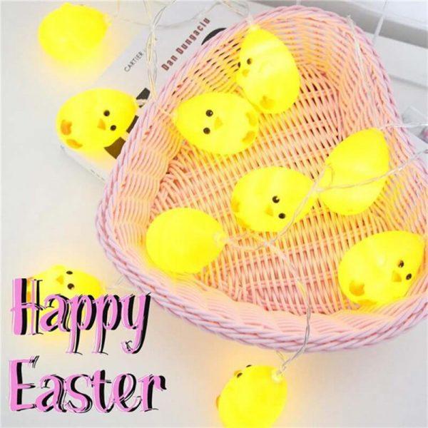 20leds Easter Eggshell Chick Light String Battery Box 3 Meters Colorful Light Led Lamp Night Light (4)