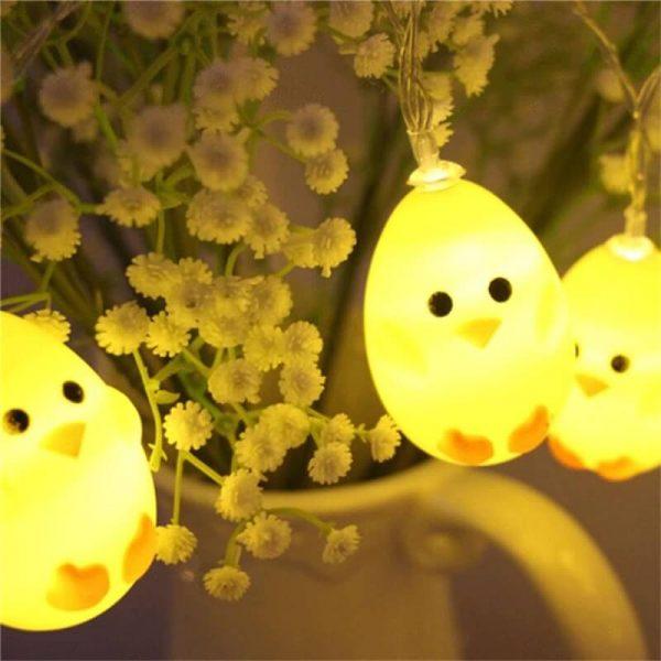 20leds Easter Eggshell Chick Light String Battery Box 3 Meters Colorful Light Led Lamp Night Light (5)