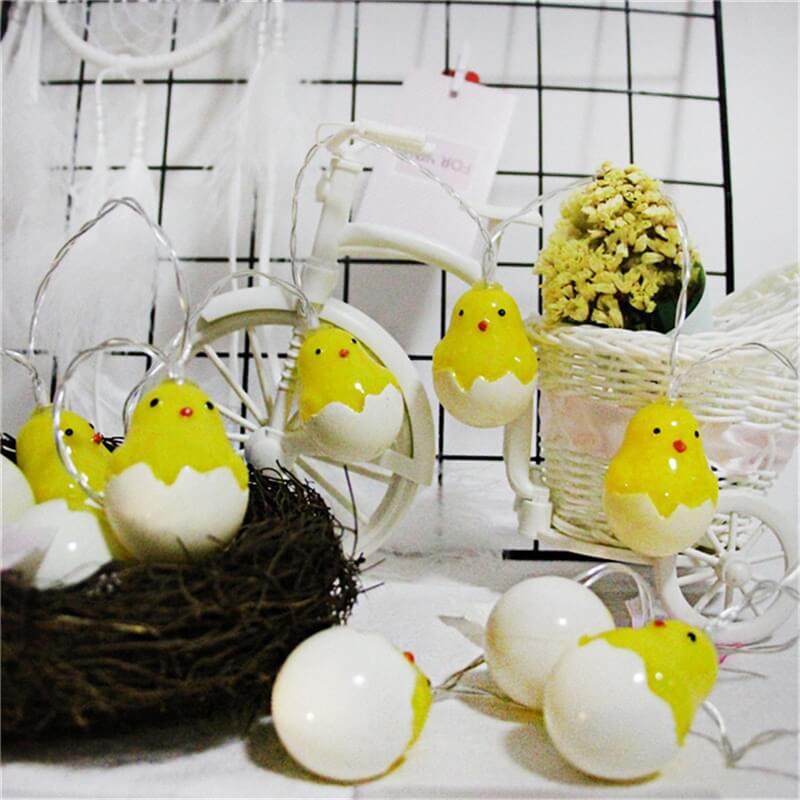 20leds Easter Eggshell Chick Light String Battery Box 3 Meters Colorful Light Led Lamp Night Light (7)