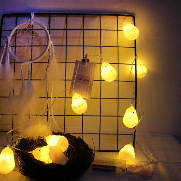 20leds Easter Eggshell Chick Light String Battery Box 3 Meters Colorful Light Led Lamp Night Light (9)