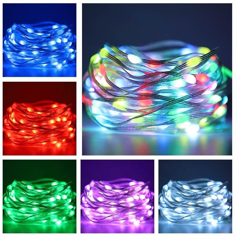 2m 5m 10m 20m Rgb Usb Led Copper Wire String Lights App Control Led String Lights (11)