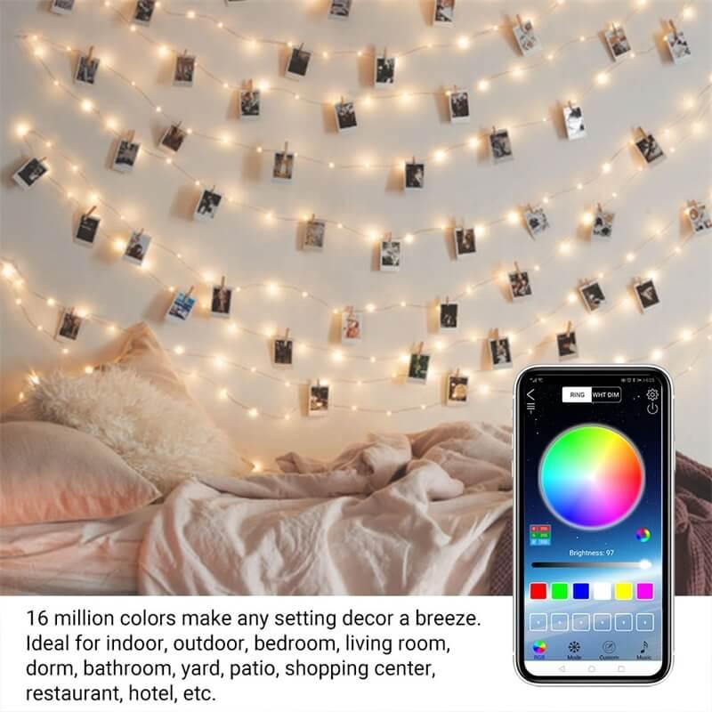 2m 5m 10m 20m Rgb Usb Led Copper Wire String Lights App Control Led String Lights (2)