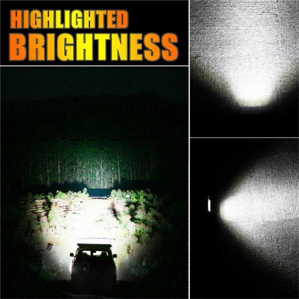 2x 4 Inch 200w Led Work Light Bar Pods Flush Mount Combo Driving 12v Lamps (11)