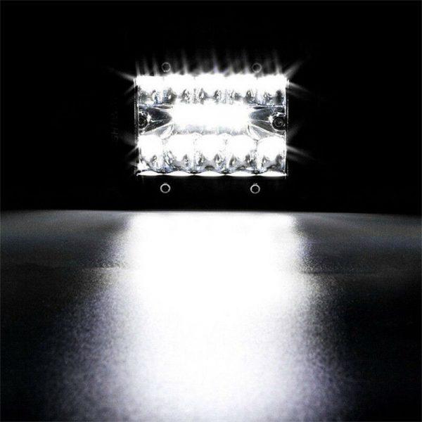 2x 4 Inch 200w Led Work Light Bar Pods Flush Mount Combo Driving 12v Lamps (5)