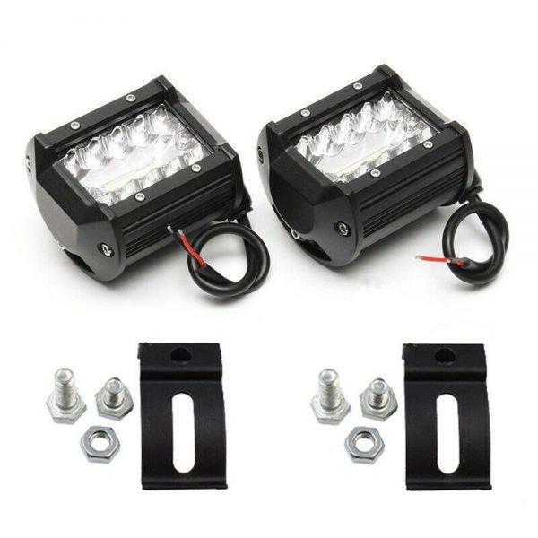 2x 4 Inch 200w Led Work Light Bar Pods Flush Mount Combo Driving 12v Lamps (7)