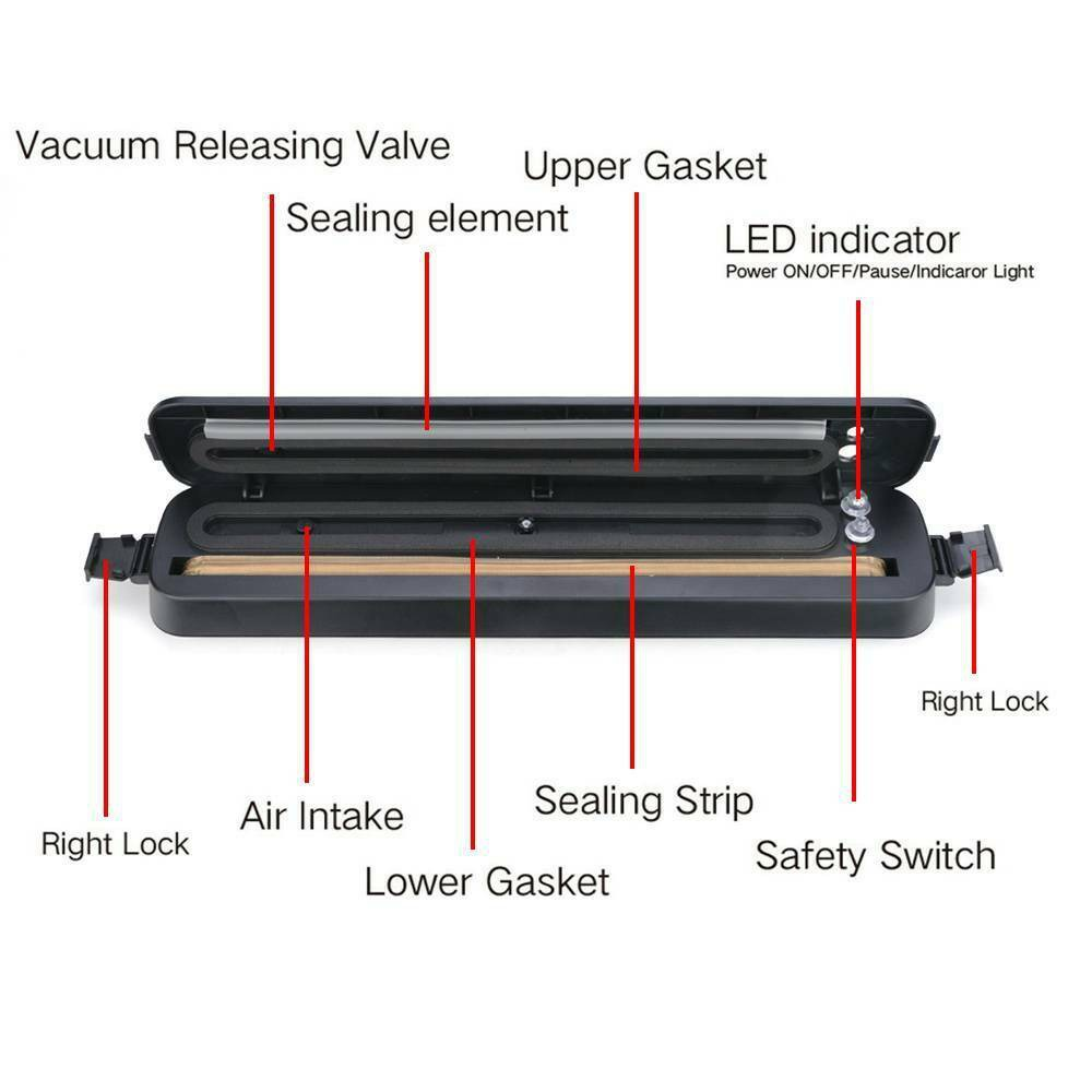 3 In1 Vacuum Food Sealer Automatic Manual Vacum Sealer Dry&wet Pack Machine (4)
