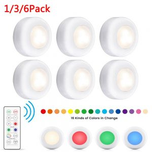 3 Pack Rgb Wireless Led Puck Closet Night Lights 16 Colors Remote Control Under Cabinet (1)