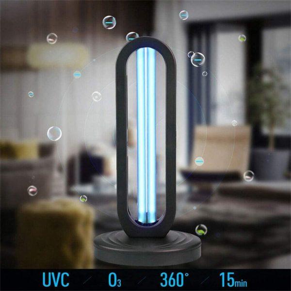 38w 110 V Uv Light Sanitizer Uv Disinfection Light Germicidal Lamp Ozone Sterilizer Lamp For Room (1)
