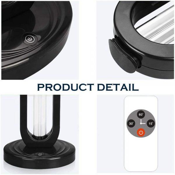 38w 110 V Uv Light Sanitizer Uv Disinfection Light Germicidal Lamp Ozone Sterilizer Lamp For Room (2)