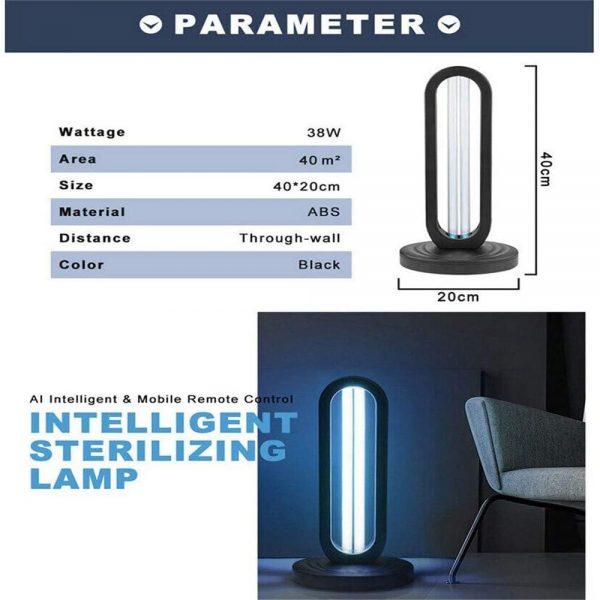 38w 110 V Uv Light Sanitizer Uv Disinfection Light Germicidal Lamp Ozone Sterilizer Lamp For Room (4)
