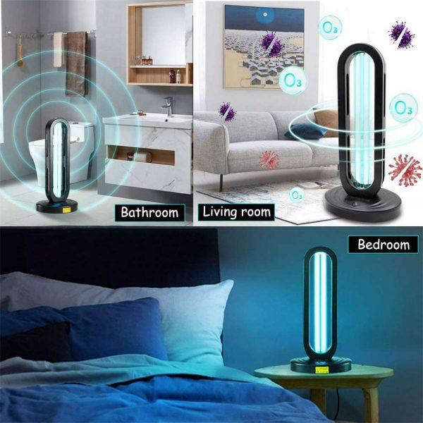 38w 110 V Uv Light Sanitizer Uv Disinfection Light Germicidal Lamp Ozone Sterilizer Lamp For Room (5)