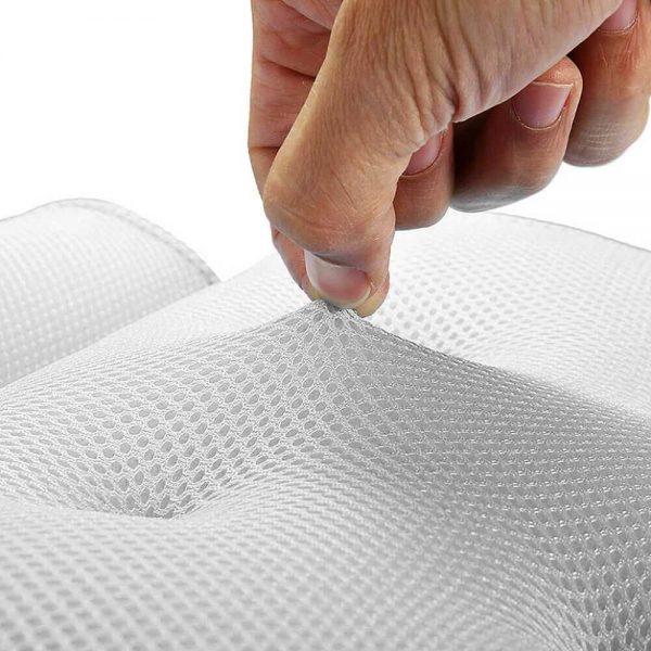 3d Mesh Neck Back Premium Waterproof Luxury Comfortable Bath Spa Pillow Cushion (10)