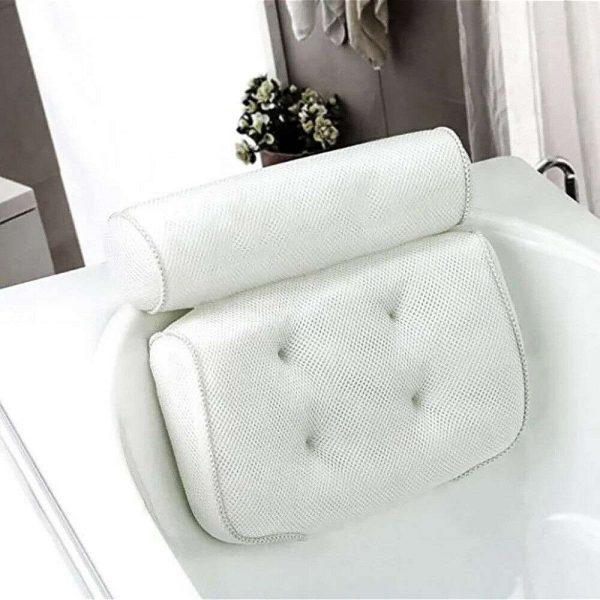 3d Mesh Neck Back Premium Waterproof Luxury Comfortable Bath Spa Pillow Cushion (11)