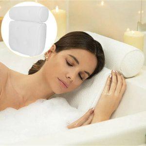 3d Mesh Neck Back Premium Waterproof Luxury Comfortable Bath Spa Pillow Cushion (12)