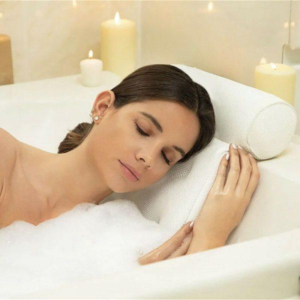 3d Mesh Neck Back Premium Waterproof Luxury Comfortable Bath Spa Pillow Cushion (3)