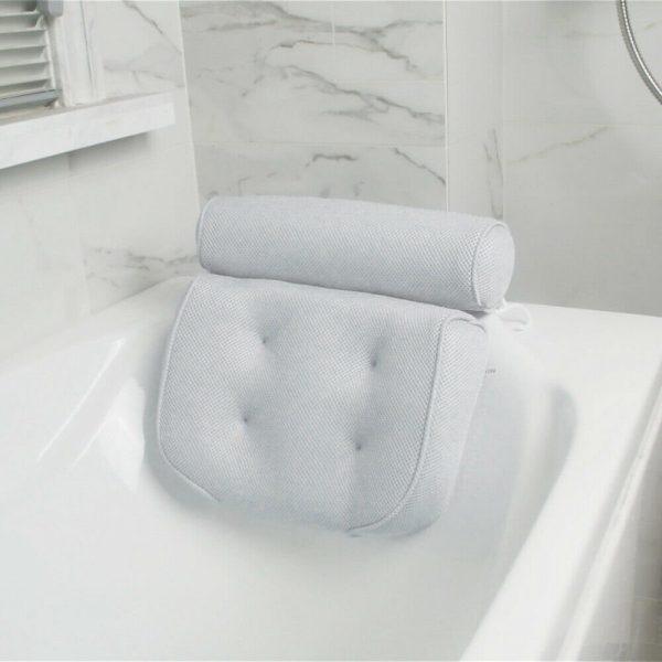 3d Mesh Neck Back Premium Waterproof Luxury Comfortable Bath Spa Pillow Cushion (4)