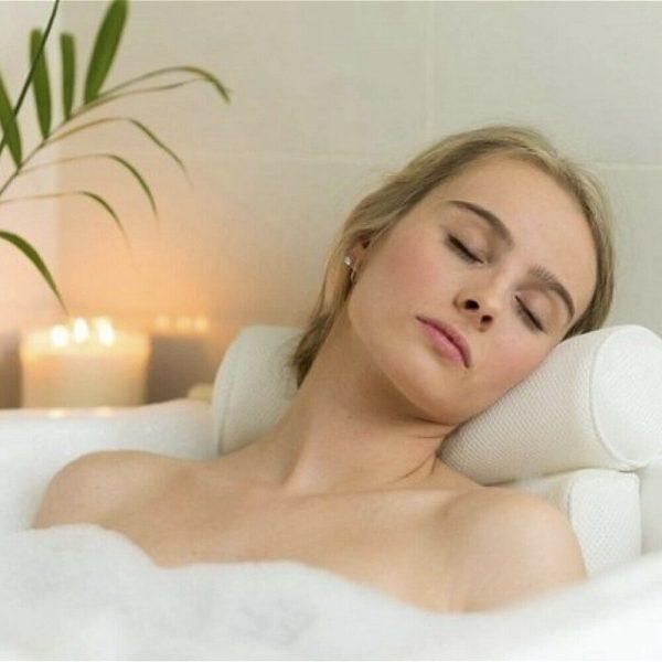 3d Mesh Neck Back Premium Waterproof Luxury Comfortable Bath Spa Pillow Cushion (5)