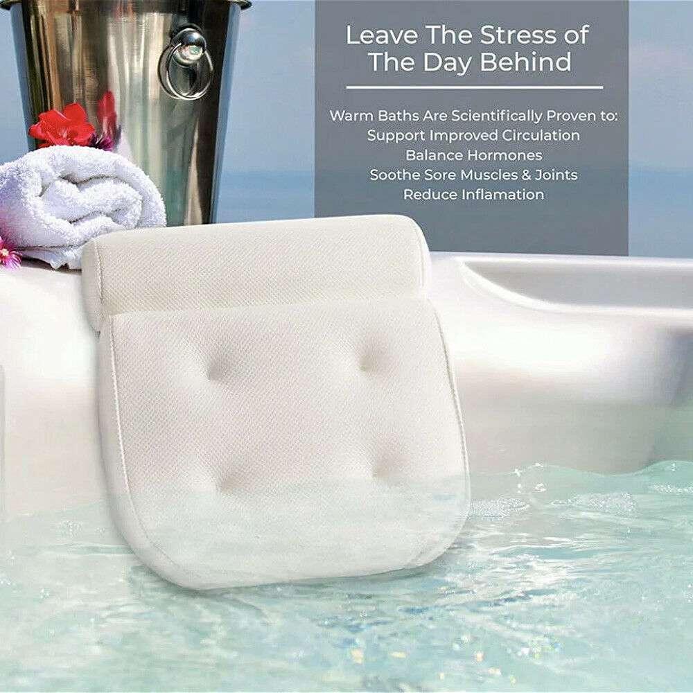 3d Mesh Neck Back Premium Waterproof Luxury Comfortable Bath Spa Pillow Cushion (6)