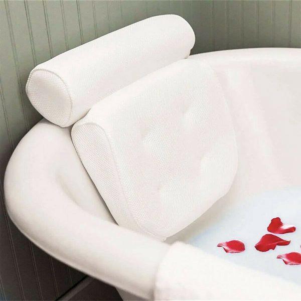 3d Mesh Neck Back Premium Waterproof Luxury Comfortable Bath Spa Pillow Cushion (7)