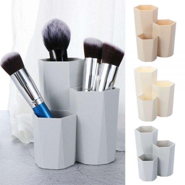 3lattices Cosmetic Make Up Brush Desktop Storage Box Table Organizer Pen Holder (12)
