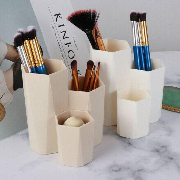 3lattices Cosmetic Make Up Brush Desktop Storage Box Table Organizer Pen Holder (14)