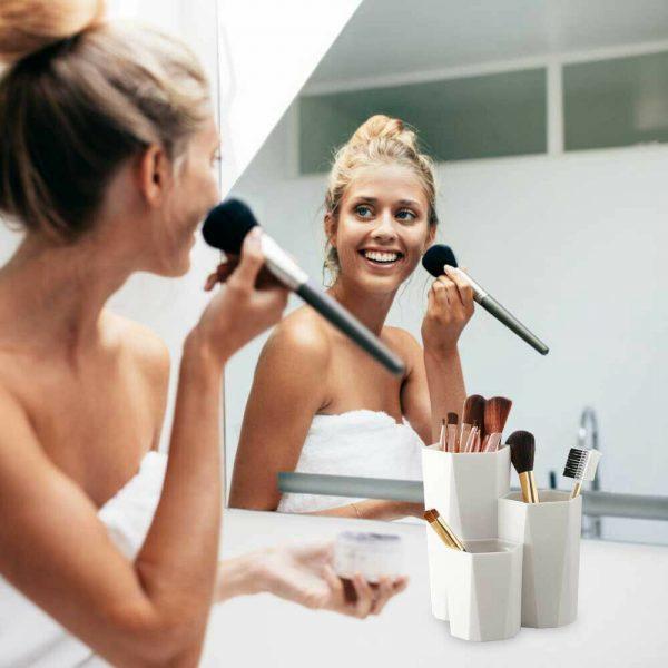 3lattices Cosmetic Make Up Brush Desktop Storage Box Table Organizer Pen Holder (16)